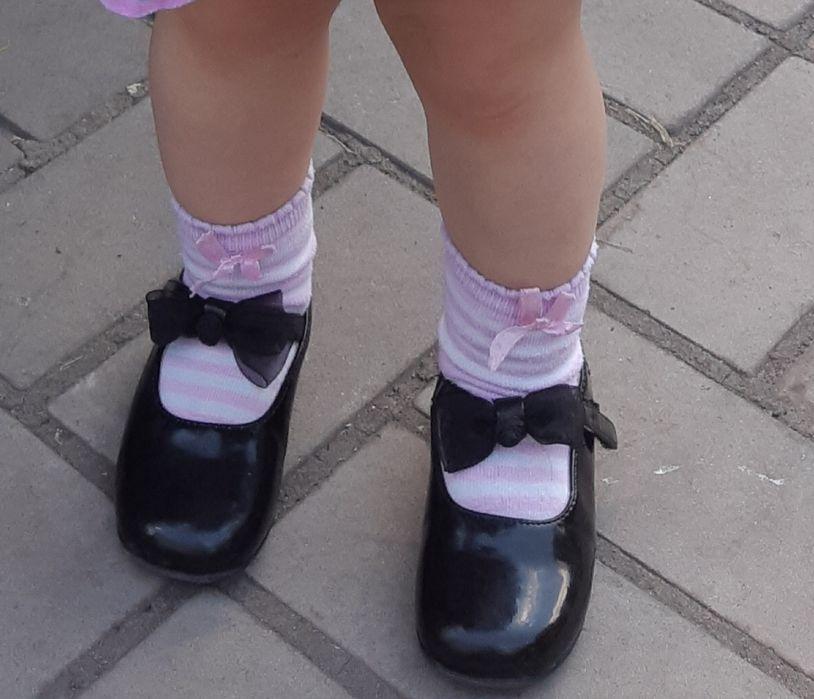 Черные нарядные туфли на девочку Харьков - изображение 1