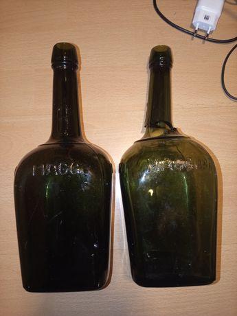 Butelki Wehrmacht MAGGI 2 wojna WH wojskowe z wojny wojenne niemieckie