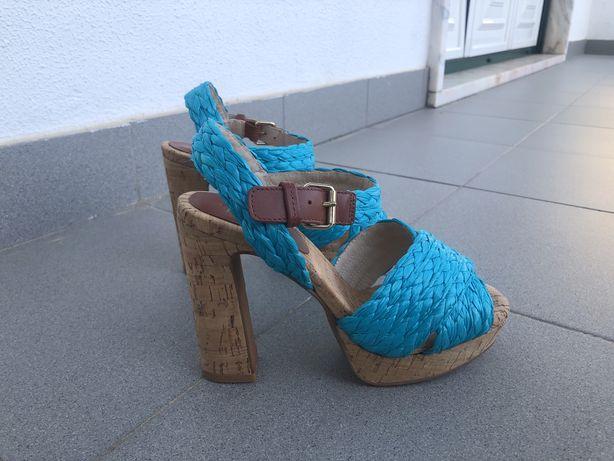 Sandálias azul turquesa Bimba & Lola (tamanho 38)