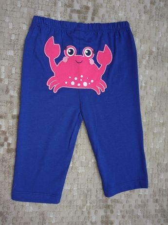 Новые Лосины шорты синие с крабиком Waikiki 98