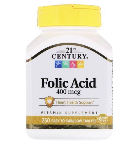 21 Century Фолиевая кислота folic acid 400 mcg iherb фолієва кислота