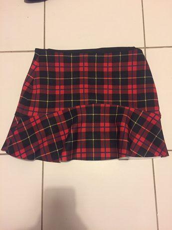 Spódnica spódniczka w kratke czerwoną czerwono-czarna Zara M nowa