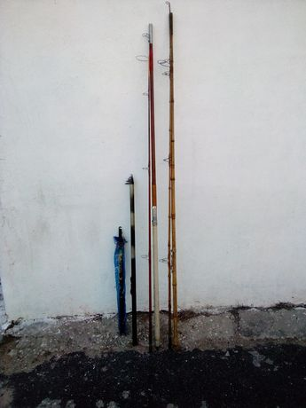 8 Canas Pesca / 1 Fundo + 1 Boia +2carretos + 4 Embarcadas
