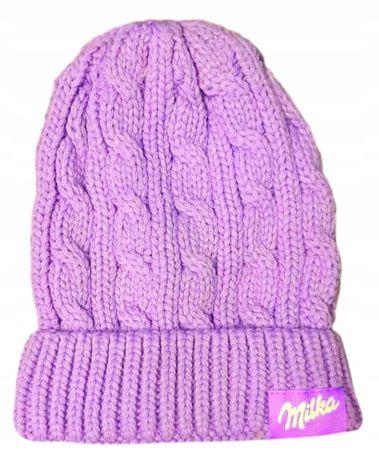Ciepła czapka na zimę Milka wywijana