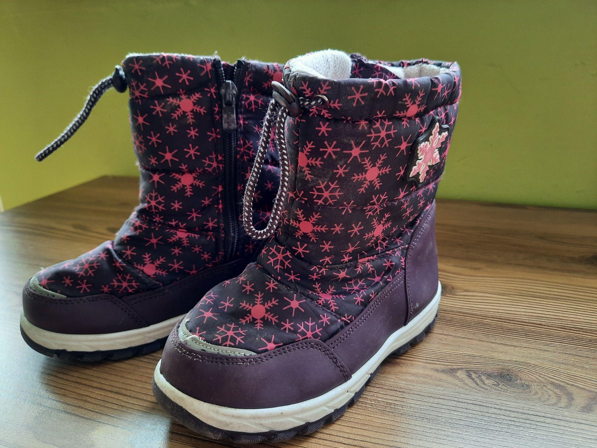 Buty śniegowe dla dziewczynki