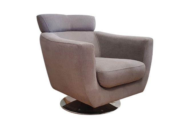 Fotel wypoczynkowy obrotowy COMO na chromowanej podstawie