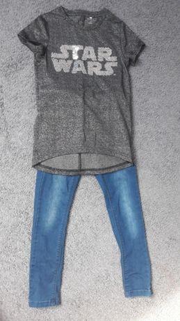 Zestaw spodnie bluzka Name it r.122-128