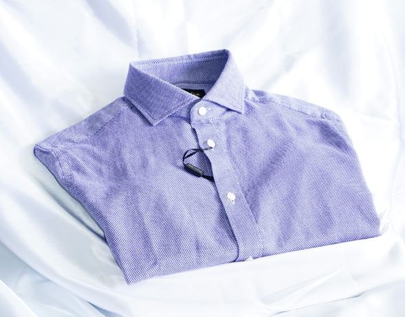 Massimo Dutti S koszula granatowa pinpoint eton stenstroms polo berg