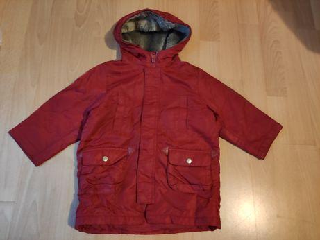 Kurtka zimowa płaszczyk dla chłopca rozmiar 80 - 86