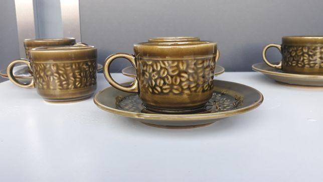 Filiżanka zielona/ceramika/porcelit/ziarna kawy