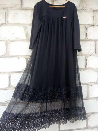 Женское шикарное кружевное платье