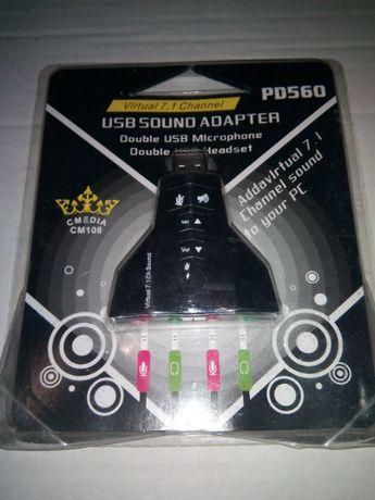 Внешняя USB 7.1 звуковая карта USB Sound