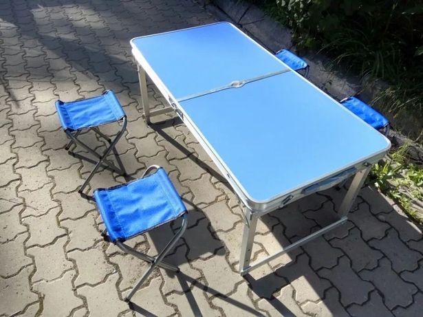 Стол для пикника УСИЛЕННЫЙ + 4 стула + Зонт. Раскладной кемпинга турис