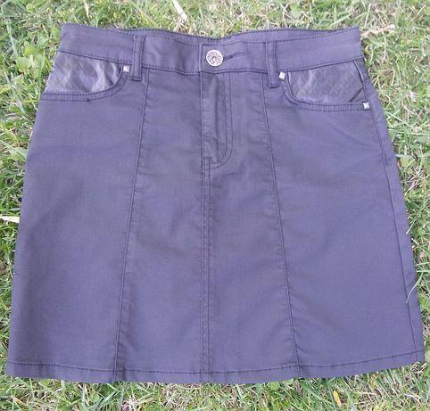 Spódnica mini mikromini 36 Orsay czarna tuba ołówkowa
