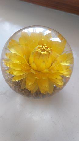 Декор для дома прозрачный шар с цветком внутри Англия
