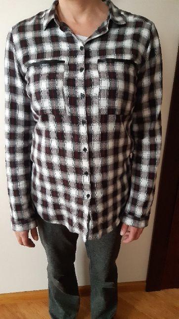 Koszula w kratę z lamówkami L