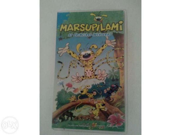 """Cassete vhs """" marsupilami-as primeiras aventuras"""""""