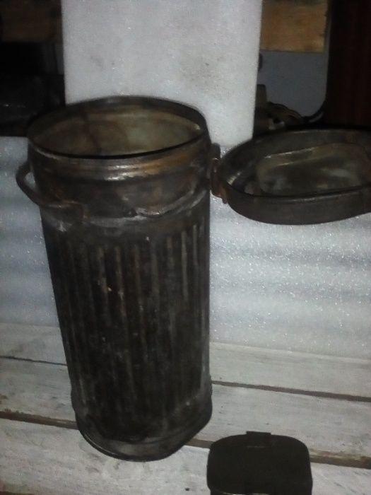 Pojemnik na maskę przeciwgazową II wojna Prochowice - image 1