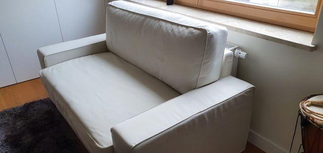 Sofa rozkładana 2 osobowa biała