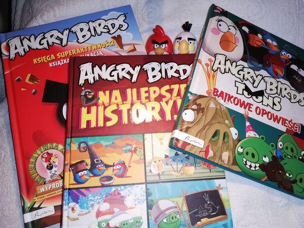 Książki Angry Birds zestaw 3 szt plus gratis