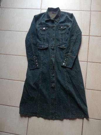 Płaszcz, sukienka dżinsowa jeansowa granat 40/42 L