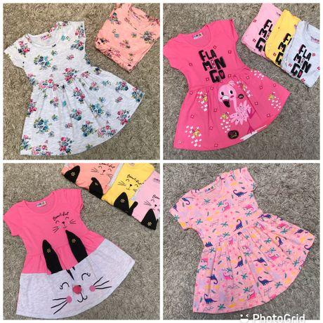 Літнє плаття, сукня на дівчинку/Платье для девочки 80-116