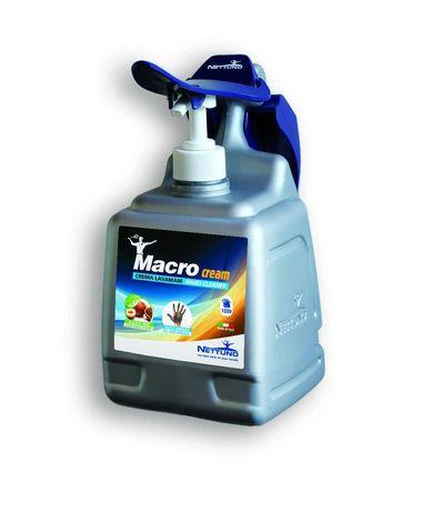 Promoção: 1 Gel Lava Mãos Macrocream + 2 recargas + doseador parede
