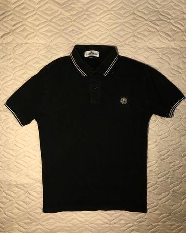 Поло Stone Island футболка Ma Strum CP Company черная