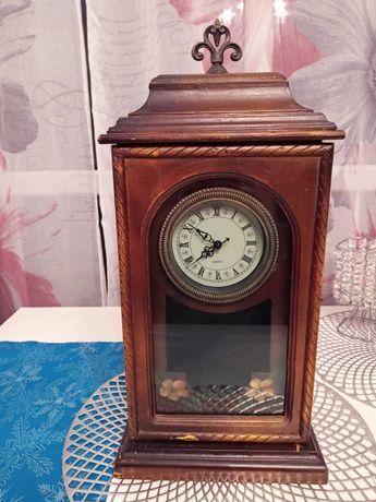 Zegar drewniany .
