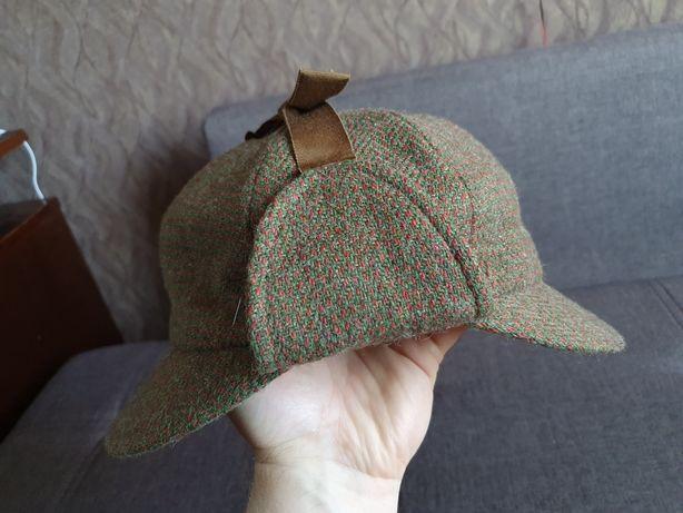 Шляпа harris tweed Шерлок Холмс stetson охота kangol рыбалка твидовая