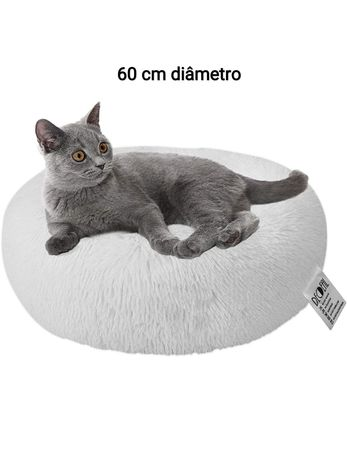 Cama relax fofa pelos animais gatos cão cães branca fofinha anti stres