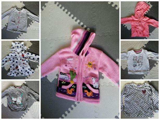 Bluzy sweterki dziewczęce 80-92 cena za CAŁOŚĆ