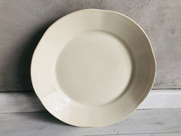 Talerze Chodzież PRL duże brązowe porcelana 3 sztuki komplet płaskie