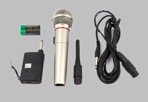 Nowy Mikrofon Bezprzewodowy i Przewodowy (2w1) KARAOKE Na Imprezy