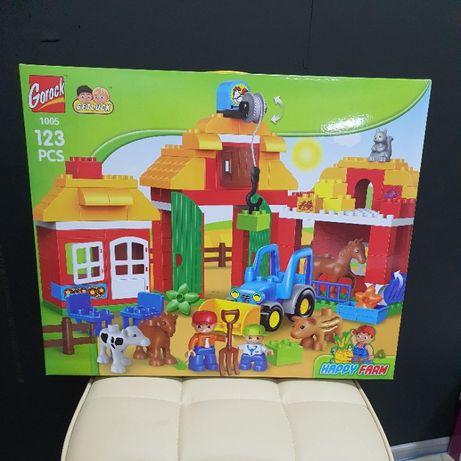 Огроменный конструктор Gorock Большая ферма, аналог Lego Duplo