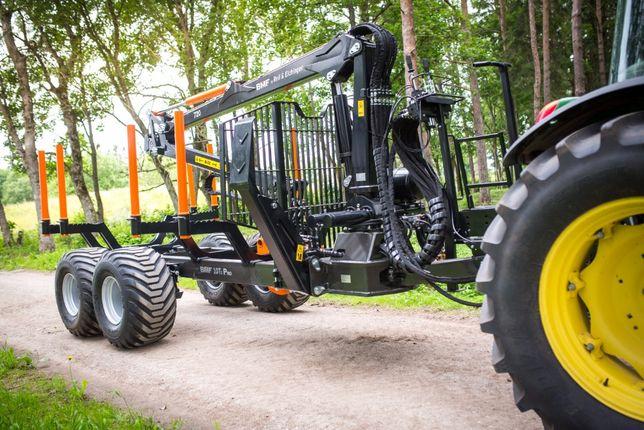 Przyczepa leśna BMF 10T2 Pro z Żurawiem BMF 720