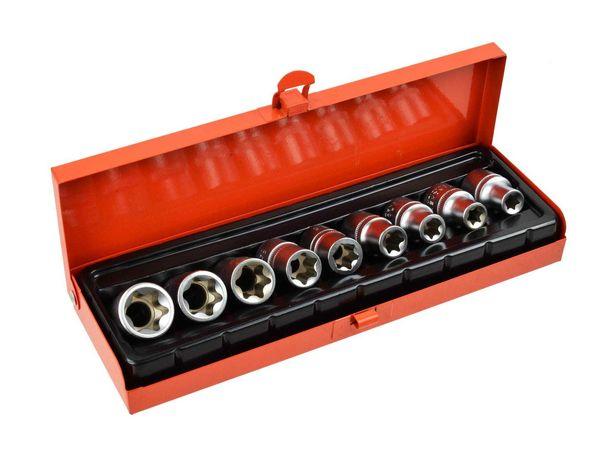 Chaves de Caixa 1/2″ E10 - E24 Torx TX Interior 9 Peças (Com Iva)