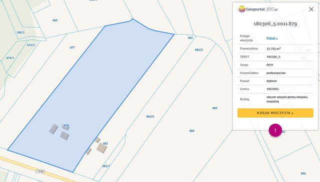 Działka inwestycyjna, Machowa 2,58 ha