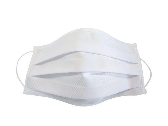 Maseczka ochronna bawełniana biała dwustronna(materiał gruby medyczny)