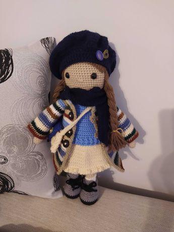 Lalki Amigurumi, lalka ręcznie robiona, lalka na szydełku