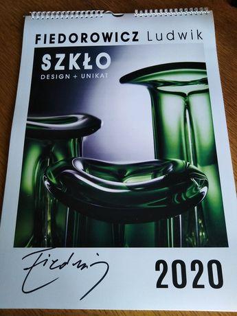 PRL Szklo Fiedorowicz kalendarz autograf