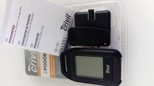 Pedómetro Contador de passos + Clip fixação + Manual