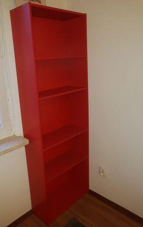 Regał IKEA czerwony wysoki