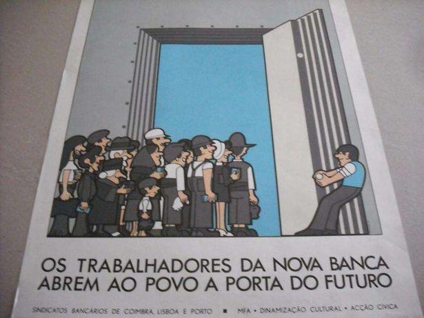 João Abel Manta-cartaz nacionalização da Banca (1975)
