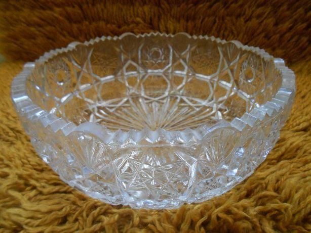 Хрустальная ваза, Фруктовница Конфетница. Диаметр 24 см Подарок посуда