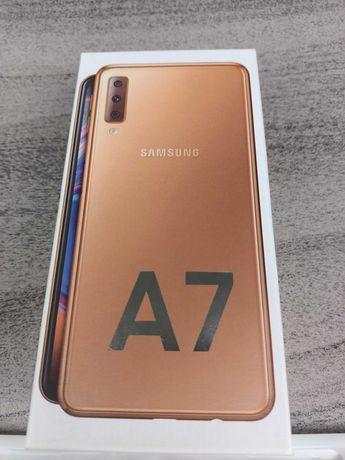 Samsung A7 2018 Gold 4/64GB komplet bdb stan etui,szkło.