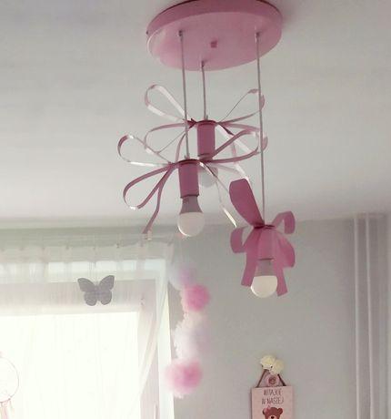 Lampa różowa kokardki