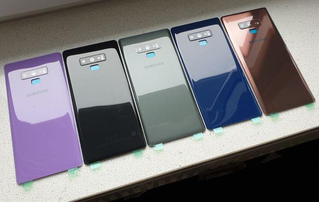 NOWE szkło tył tylne plecki obudowa Samsung Galaxy Note 9 różne kolory