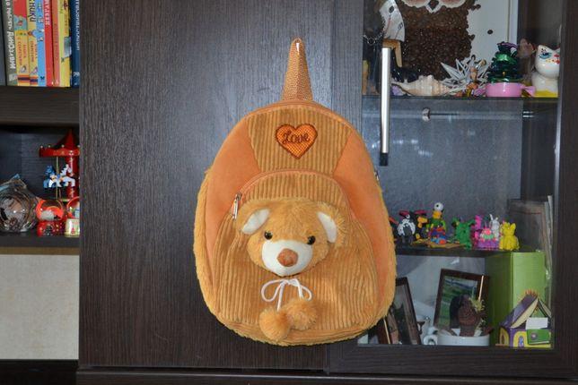 Детский плюшевый рюкзак Мишка