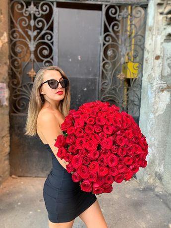 Акция Букет роз 101 шт 70 см 2 500 грн Опт Одесса 51, цветы троянди